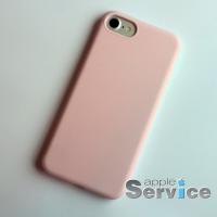 Розовый силиконовый чехол на iPhone 7